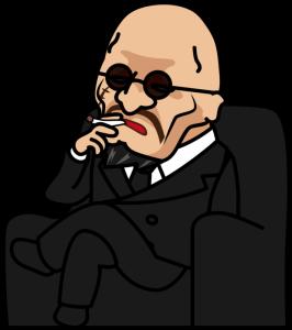 232椅子に座ってタバコを吸うヤクザ「社長」-973x1096